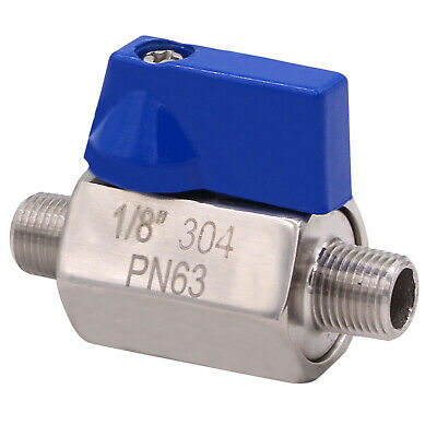 Ball Valve Stainless Steel 316  - 1/8 Inch NPT Thread Male Small Mini Valve