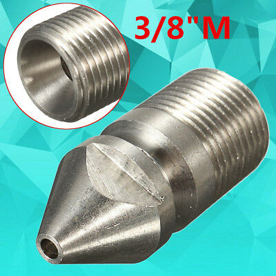 9 Jet 3/8'' Male 4.5MM Pressure Washer Drain Ram Sewer Rotary Cleaning Nozzle