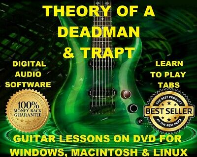 Theory of A Deadman 107 Trapt 77 Guitar Tabs Software Lesson CD & 4 Backing Trax