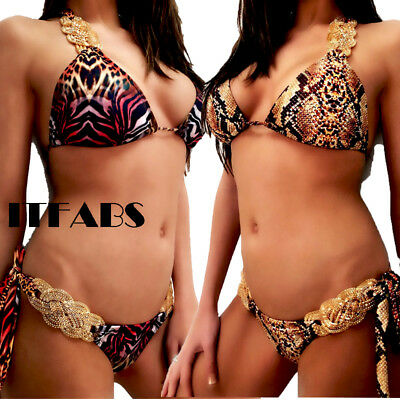 ITFABS Women Push Up Padded Bikini Set Swimsuit Bathing Suit Swimwear Beachwear