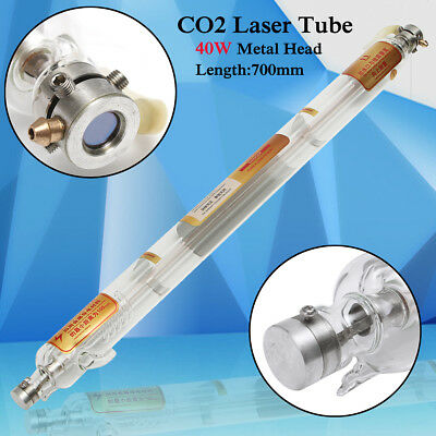 40W 700mm Glass Pipe CO2 Laser Tube Metal Head For Engraving Cutting Machine