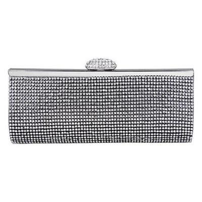 Crystals Evening Bag in Black, Gold, Silver