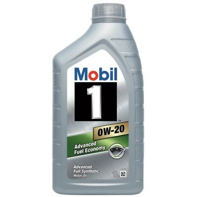 2 x Mobil 1 0W-20 Fully Synthetic 1 Litre Car Engine Oil Lubricant 152125