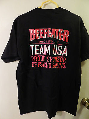 BEEFEATER Imported Gin *TEAM USA* Psycho Sailing [SIZE: L-XL] T-Shirt Ltd. Promo