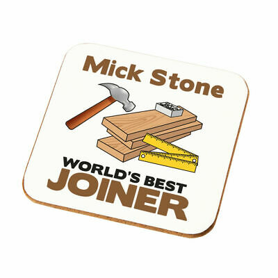 Personalised Worlds Best Joiner Coaster Gift Dads Uncles Joining Joiner Present