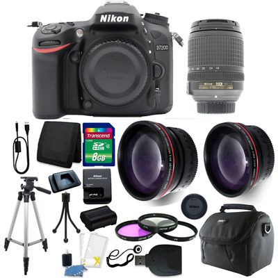 Nikon D7200 24.2MP DX-Format Digital SLR Camera + 18-140mm Lens + Top Kit