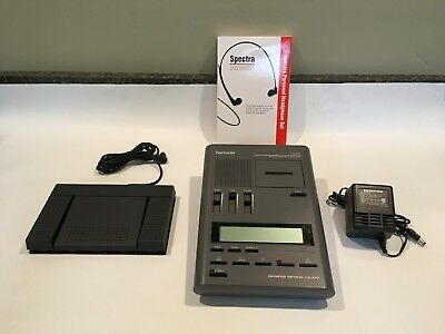 Olympus T1100 REFURBISHED Micro Cassette Unit with , New headset 90 Day Warranty