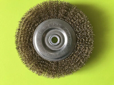 "Mastercraft Fine Bench Grinder Wire Wheel 6"" X 1/2""  Or  5/8"" Arbor Hole"
