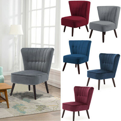 Retro Upholstered Accent Chair Tufted Sofa Reading Lazy Chairs Anteroom Bedroom