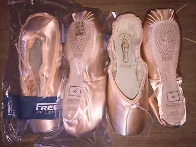 FREED OF LONDON Custom Classics Pointe Ballet Shoes Size 5 Q XX DV BRAND NEW!