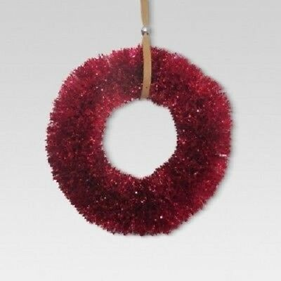 "Threshold 18"" Bottlebrush Wreath, Red 52625671"