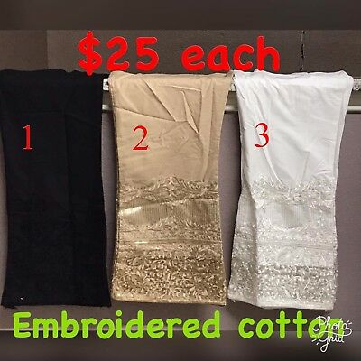 Pakistani/Indian Boot Cut Bell Bottoms Pants Trousers Cotton Eid Embroidered