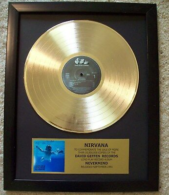 NIRVANA Nevermind Gold plated LP Record Diskn+ Mini Album Not a Award + Plaque