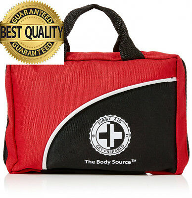 120 Piece Premium First Aid Kit Bag - Includes Ice Pack, CPR Mask and...