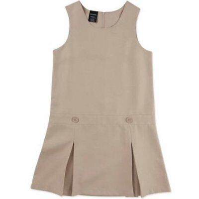 George Girls School Uniform Pleated Jumper Size 12 Warm Beige NEW
