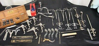 Vintage LOT OF 25+ MEDICAL INSTRUMENTS SURGICAL TOOLS GYNO/UROLOGY????