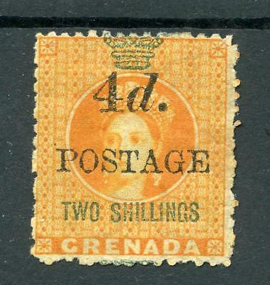 Grenada 1888-91 4d on 2s (4mm gap) SG41 MM