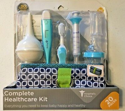 Safety 1st Complete Healthcare Kit Baby Thermometer Case Syringe Dispenser NEW