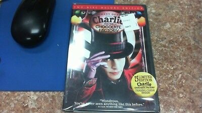 Charlie and the Chocolate Factory (DVD 2005 2-Disc Deluxe Edition) RARE NEW