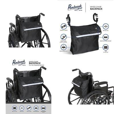 Wheel Chair Backpack Bag Pouch Mobility Scooter Walker Rollator Storage Organize