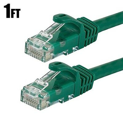 CablesOnline UX6-001RD-10 10-PACK 1ft CAT6 Crossover Ethernet RJ45 Patch Cable
