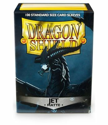 Dragon Shield mat Jet Black 100 de protection manches Standard Titulaire la