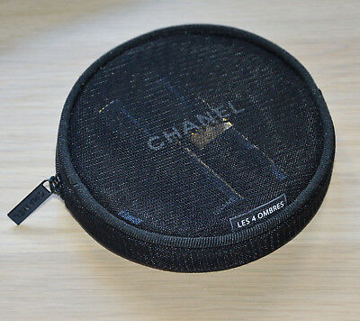 Chanel VIP gift from beauty boutique Les 4 ombres small round makeup bag NIB