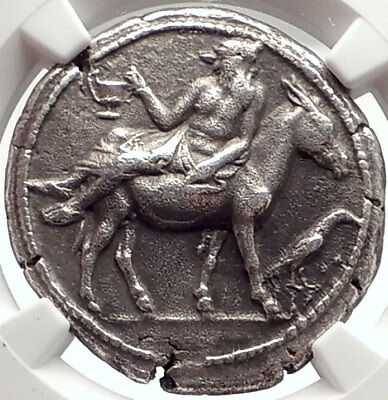 MENDE in MACEDONIA Rare 460BC Ancient Silver Greek Tetradrachm Coin NGC i69560
