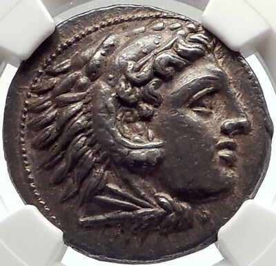 ALEXANDER III the GREAT 325BC Pella TETRADRACHM Silver Greek Coin NGC i69561