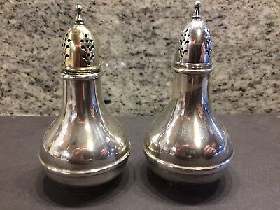 Non Weighted Wallace Sterling Silver Salt and Pepper Shaker Set #241 - 72 Grams
