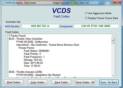 VCDS VAG-COM DIAGNOSTICS in Tipton for Audi Seat VW Skoda - Fault Code Reset