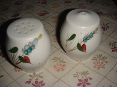 Denby pottery greenwheat salt and pepper lovely condition