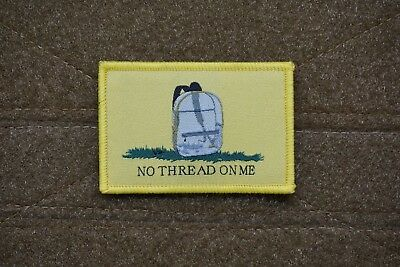 NO THREAD ON ME MORALE PATCH - clear backpack parkland