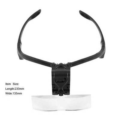 Headband Headset LED Head Light Magnifier Magnifying Glass Loupe 5 x Lens US