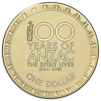 2018 100 Years of Anzac $1 coin from Mint Bag Brilliant Uncirculated - Scarce