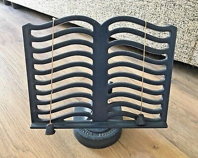 Vintage Victor Cast Iron Music Stand- Pub Menu Display- Cookery Book Stand- Blue