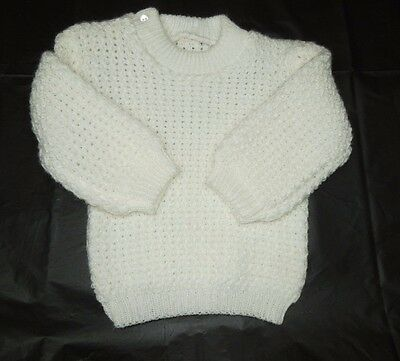 Baby Boy or Girl Knit Sweater~12 Mo.~Ivory~Super Soft!