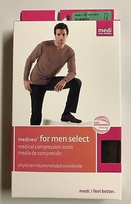 Medi For Men Calf 20-30mmHg Closed Toe Black Size V Compression Socks