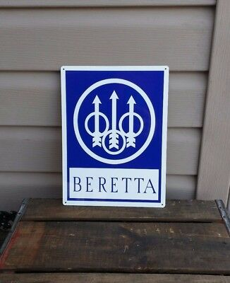 BERETTA FIRE ARMS Metal Sign 9MM Hunting Shop Store 9x12 50046