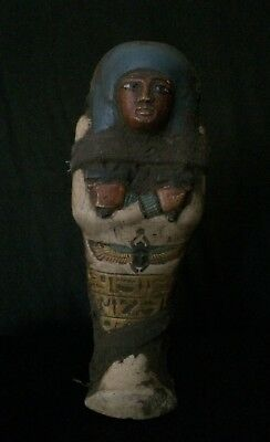 ANTIQUITIES EGYPTIAN USHABTI STATUE Shabti ANCIENT EGYPT Stone 1570-1069 BC