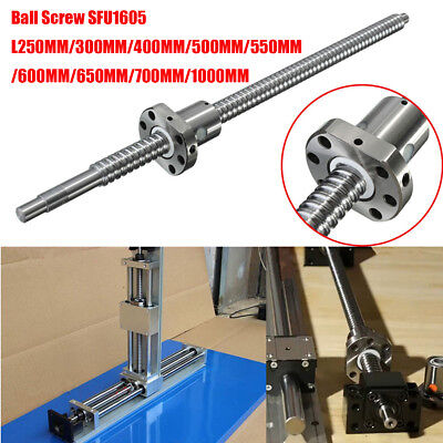 Ball Screw C7/SFU1605 L250/300/400/500/600/650/1000MM Ballscrew +Ballnut For CNC