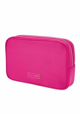 bf3aba4b96d9 Prada CANDY HOT PINK Makeup Pouch / Cosmetics Bag Patent Faux Leather NIB