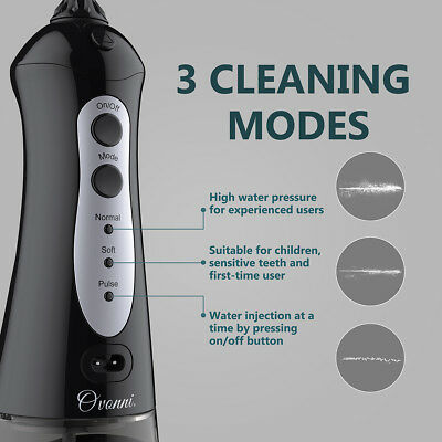 Ovonni Oral Irrigator Water Jet Pick Flosser Cordless Rechargeable Teeth Cleaner