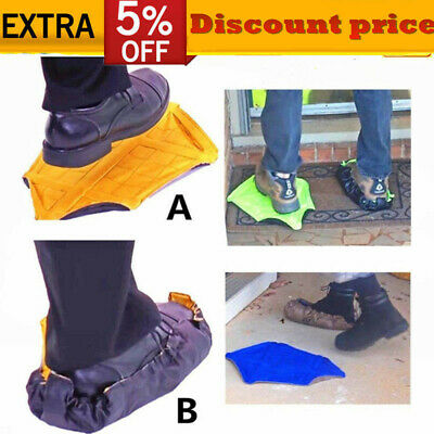 1 Pair Step In Sock Hands Free Shoe Covers Reusable Shoe Boot Cover Automatic KF