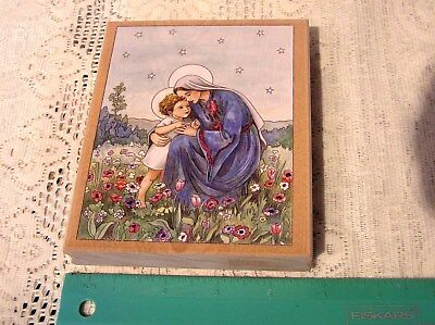 MARY with CHRIST CHILD rubber stamp Cicely Mary Barker - Madonna & Jesus - NEW