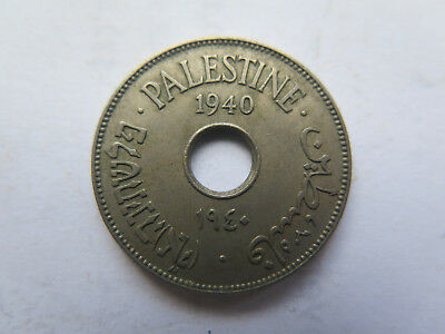 1940 PALESTINE ISRAEL 10 MILS CUPRO NICKEL COIN in NICE COLLECTABLE CONDITION