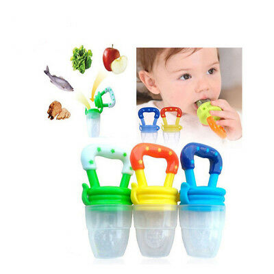 Funny Nipple Bottle Clip Silicone Baby Pacifier Fresh Food Feeder Dummy Fruits