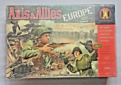 AXIS & ALLIES War Game Europe Edition Complete Avalon Hill 1999