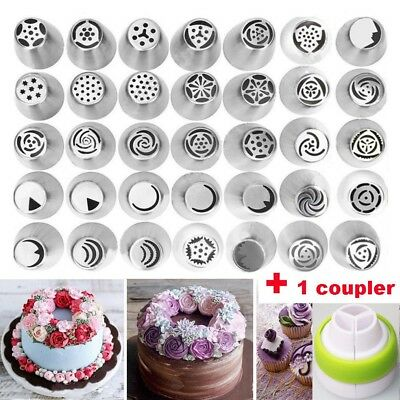 35 Pcs Set Xmas Baking Tool Russian Tulip Flower Cake Icing Piping Nozzles Decor