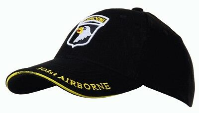 Casquette noire AIRBORNE 101st SCREAMING EAGLES JEEP CAP US VO MILITARIA US Luxe